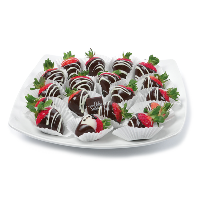 Fresh strawberries covered with chocolate