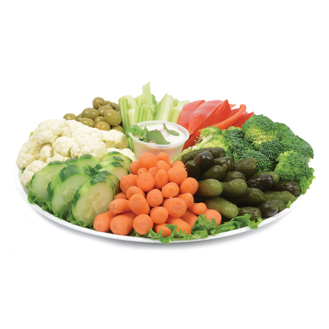 Dish of raw vegetables