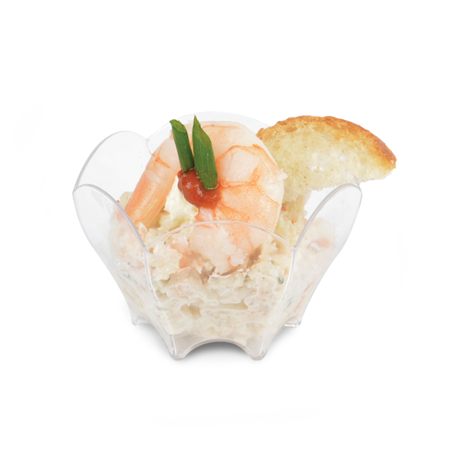 Pollock and shrimp verrine